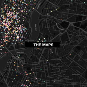 Maps of LGBTQ NYC Publications and Organizations.