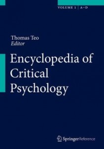 International Encyclopedia of Critical Psychology