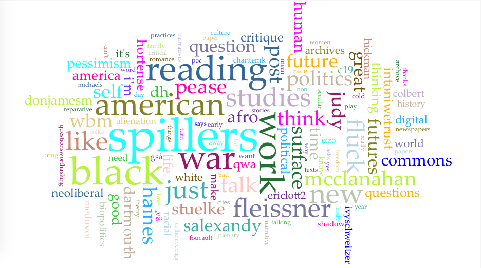 Word cloud #fasi16. Jen Jack Gieseking CC BY-NC 2016.
